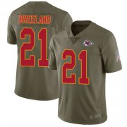 Wholesale Cheap Nike Chiefs #21 Bashaud Breeland Olive Youth Stitched NFL Limited 2017 Salute to Service Jersey