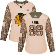 Wholesale Cheap Adidas Blackhawks #88 Patrick Kane Camo Authentic 2017 Veterans Day Women's Stitched NHL Jersey