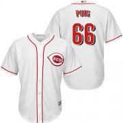 Wholesale Cheap Reds #66 Yasiel Puig White New Cool Base Stitched MLB Jersey