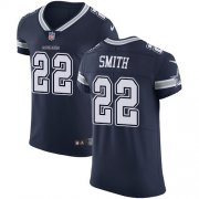Wholesale Cheap Nike Cowboys #22 Emmitt Smith Navy Blue Team Color Men's Stitched NFL Vapor Untouchable Elite Jersey