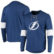 Wholesale Cheap Tampa Bay Lightning adidas Platinum Long Sleeve Jersey T-Shirt Blue