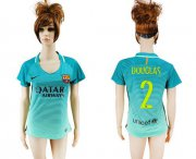 Wholesale Cheap Women's Barcelona #2 Douglas Sec Away Soccer Club Jersey