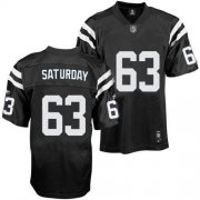 Wholesale Cheap Colts #63 Jeff Saturday Black Shadow Stitched NFL Jersey