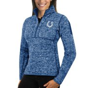 Wholesale Cheap Indianapolis Colts Antigua Women's Fortune Half-Zip Sweater Heather Royal