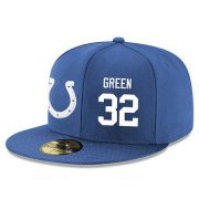 Wholesale Cheap Indianapolis Colts #32 T.J. Green Snapback Cap NFL Player Royal Blue with White Number Stitched Hat
