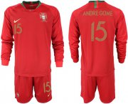 Wholesale Cheap Portugal #15 Andre Gome Home Long Sleeves Soccer Country Jersey