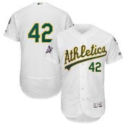 Wholesale Cheap Oakland Athletics #42 Majestic 2019 Jackie Robinson Day Flex Base Jersey White