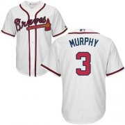 Wholesale Cheap Braves #3 Dale Murphy White Cool Base Stitched Youth MLB Jersey