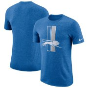 Wholesale Cheap Detroit Lions Nike Marled Historic Logo Performance T-Shirt Blue
