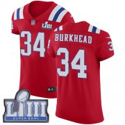 Wholesale Cheap Nike Patriots #34 Rex Burkhead Red Alternate Super Bowl LIII Bound Men's Stitched NFL Vapor Untouchable Elite Jersey