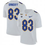 Wholesale Cheap Pittsburgh Panthers 83 Scott Orndoff White 150th Anniversary Patch Nike College Football Jersey