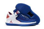 Wholesale Cheap Air Jordan 32 XXXI Low Shoes True Blue/White-Red