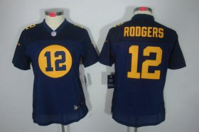 Wholesale Cheap Nike Packers #12 Aaron Rodgers Navy Blue Alternate Women\'s Stitched NFL Limited Jersey