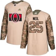 Wholesale Cheap Adidas Senators #25 Chris Neil Camo Authentic 2017 Veterans Day Stitched Youth NHL Jersey