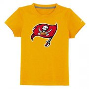 Wholesale Cheap Tampa Bay Buccaneers Sideline Legend Authentic Logo Youth T-Shirt Yellow