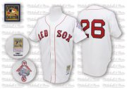 Wholesale Cheap Mitchell And Ness 1987 Red Sox #26 Wade Boggs White Throwback Stitched MLB Jersey