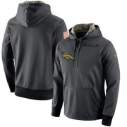 Wholesale Cheap Men's Denver Broncos Nike Anthracite Salute to Service Player Performance Hoodie