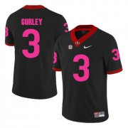 Wholesale Cheap Georgia Bulldogs 3 Todd Gurley Black Breast Cancer Awareness College Football Jersey