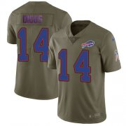 Wholesale Cheap Nike Bills #14 Stefon Diggs Olive Youth Stitched NFL Limited 2017 Salute To Service Jersey