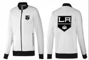 Wholesale Cheap NHL Los Angeles Kings Zip Jackets White-1