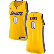 Wholesale Cheap Nike Los Angeles Lakers #0 Kyle Kuzma Gold Women's NBA Swingman Icon Edition Jersey