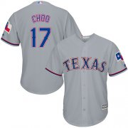 Wholesale Cheap Rangers #17 Shin-Soo Choo Grey Cool Base Stitched Youth MLB Jersey