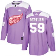 Wholesale Cheap Adidas Red Wings #59 Tyler Bertuzzi Purple Authentic Fights Cancer Stitched Youth NHL Jersey