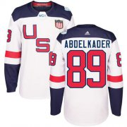 Wholesale Cheap Team USA #89 Justin Abdelkader White 2016 World Cup Stitched Youth NHL Jersey