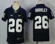 Wholesale Cheap Penn State Nittany Lions #26 Saquon Barkley Navy College Football Jersey