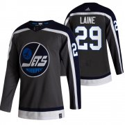 Wholesale Cheap Winnipeg Jets #29 Patrik Laine Black Men's Adidas 2020-21 Reverse Retro Alternate NHL Jersey