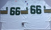 Wholesale Cheap Mitchell And Ness 1969 Packers #66 Ray Nitschke White Throwback Stitched NFL Jersey
