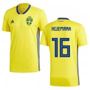 Wholesale Cheap Sweden #16 Hijemark Home Soccer Country Jersey