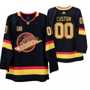 Wholesale Cheap Vancouver Canucks Custom Black 50th Anniversary Skate 2019-20 Jersey