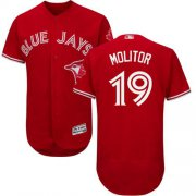 Wholesale Cheap Blue Jays #19 Paul Molitor Red Flexbase Authentic Collection Canada Day Stitched MLB Jersey