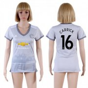 Wholesale Cheap Women's Manchester United #16 Carrick Sec Away Soccer Club Jersey