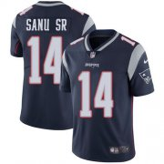 Wholesale Cheap Nike Patriots #14 Mohamed Sanu Sr Navy Blue Team Color Youth Stitched NFL Vapor Untouchable Limited Jersey