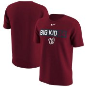 Wholesale Cheap Washington Nationals #34 Bryce Harper Nike Legend Player Nickname Name & Number T-Shirt Red
