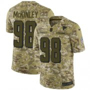 Wholesale Cheap Nike Falcons #98 Takkarist McKinley Camo Men's Stitched NFL Limited 2018 Salute To Service Jersey