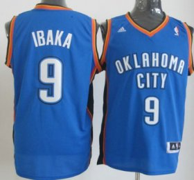 Wholesale Cheap Oklahoma City Thunder #9 Serge Ibaka Revolution 30 Swingman Blue Jersey