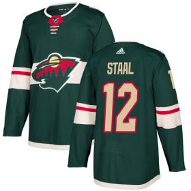 Wholesale Cheap Adidas Wild #12 Eric Staal Green Home Authentic Stitched Youth NHL Jersey