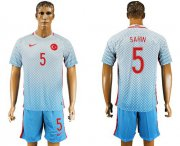 Wholesale Cheap Turkey #5 Sahin Away Soccer Country Jersey