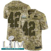 Wholesale Cheap Nike Chiefs #42 Anthony Sherman Camo Super Bowl LIV 2020 Youth Stitched NFL Limited 2018 Salute To Service Jersey