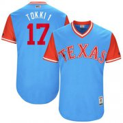 "Wholesale Cheap Rangers #17 Shin-Soo Choo Light Blue ""Tokki 1"" Players Weekend Authentic Stitched MLB Jersey"