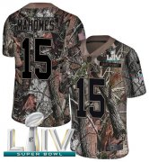Wholesale Cheap Nike Chiefs #15 Patrick Mahomes Camo Super Bowl LIV 2020 Youth Stitched NFL Limited Rush Realtree Jersey