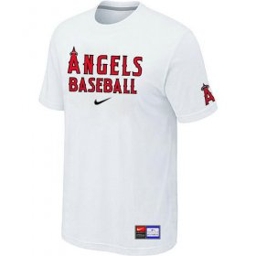 Wholesale Cheap Los Angeles Angels Nike Short Sleeve Practice MLB T-Shirt White