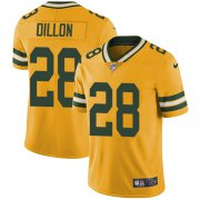 Wholesale Cheap Nike Packers #28 AJ Dillon Yellow Men's Stitched NFL Limited Rush Jersey