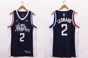 Wholesale Cheap Men's Los Angeles Clippers #2 Kawhi Leonard NEW Black Nike 2021 Swingman City Edition Jersey With NEW The Sponsor Logo