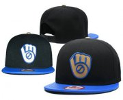 Wholesale Cheap MLB Milwaukee Brewers Snapback Ajustable Cap Hat 1