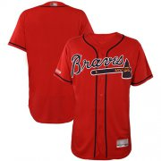 Wholesale Cheap Braves Blank Red Flexbase Authentic Collection Stitched MLB Jersey