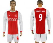 Wholesale Cheap Ajax #9 Huntelaar Home Long Sleeves Soccer Club Jersey